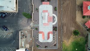 Jon Johnson Photo/Gila Valley Central: A bird's eye view of the Safford Skatepark.