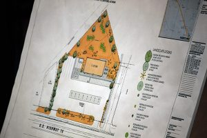 Jon Johnson Photo/Gila Valley Central: This drawing shows the landscape outline for the new store.