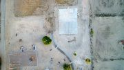 Jon Johnson Photo/Gila Valley Central: An aerial view of Glenn Meadows Park shows the bare playing area.
