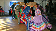 Brooke Curley Photo/Gila Valley Central:  La Compania de Danza Folklorica dancers perform beautiful historical dances during the Hispanic Heritage event.