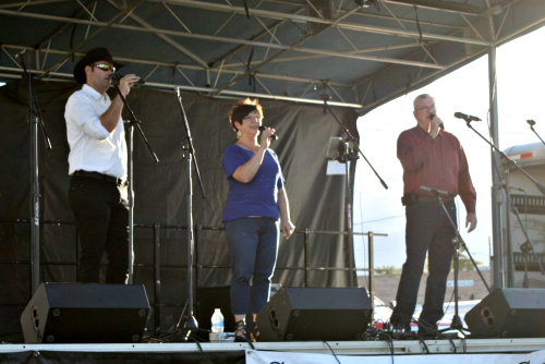 """Brooke Curley Photo/Gila Valley Central: The group, """"Tribute"""" perform various musical numbers for Salsa Fest attendees."""