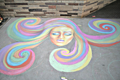"""Brooke Curley Photo/Gila Valley Central: """"Contemplation"""" by EAC college students McKay Keith and Lexi Lutz is one of the entries in the Color on Mainstreet art contest."""