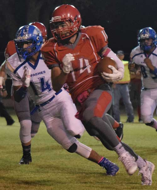 Raymundo Frasquillo Photo: Duncan senior Chris Corona (14) zooms by on his way to a 75-yard kickoff return touchdown.