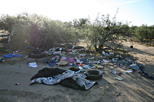 Brooke Curley Photo/ Gila Valley Central: This pile is just one of many heaps of trash.