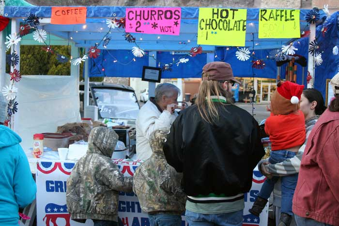 Photo By Walter Mares: There were plenty of vendor booths at the festival, including this one selling hot chocolate and coffee.