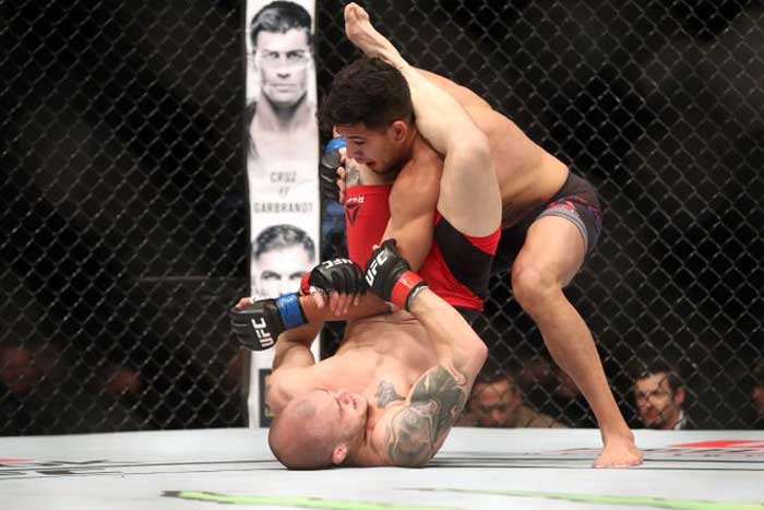 Photo By Tom Szczerbowski/USA Today: Matt Lopez, top, takes down Mitch Gagnon.