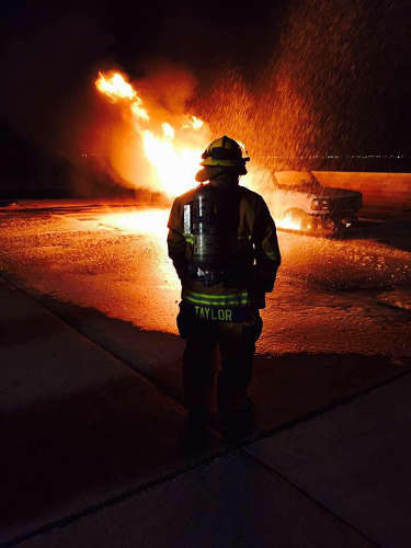 Contributed Photo/Courtesy Chris Taylor: Chris Taylor continues the family legacy of firefighting