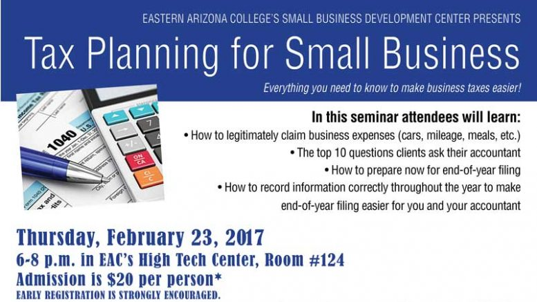 EAC SBDC offering 'Tax Planning for ...