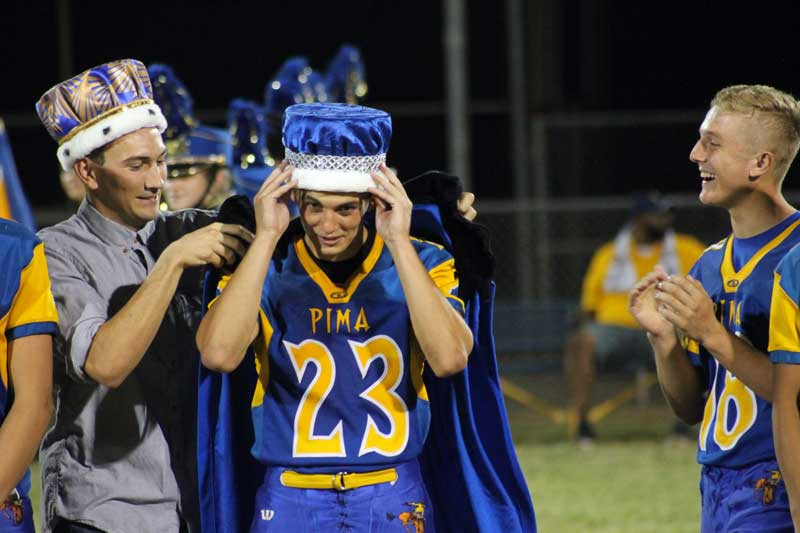 pima crowns homecoming king and queen gilavalleycentralnet