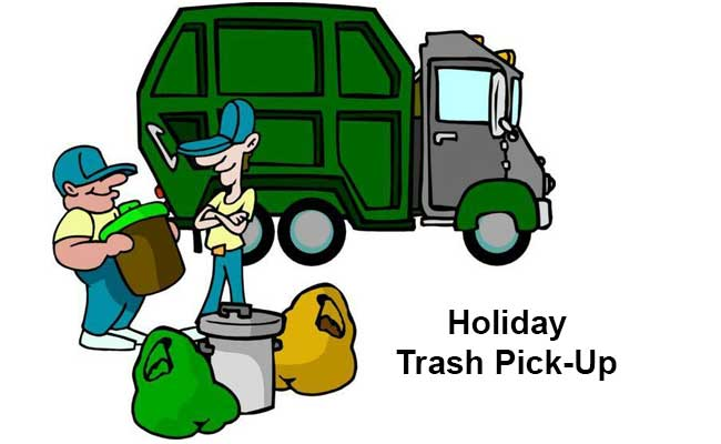 Image result for holiday trash pickup
