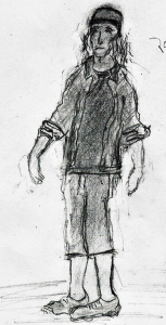 """Full size sketch of """"Kevin"""""""