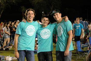 Jon Johnson Photo/Gila Valley Central: From left, Pima's team of Justin Kartchner, Trey Thompson and Jarrett Kartchner finished second to a team from Morenci for the 3 on 3 basketball title.