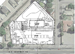 Contributed Photo/Courtesy city of Safford The site plan shows the outline of the new prototype Circle K store.