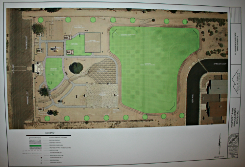 Brooke Curley Photo/ Gila Valley Central.net: This is the rough plans for the park. It is in no way concrete, and will not be the final outcome.