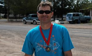 Jon Johnson Photo/Gila Valley Central: Jason Moulton took a trip to the Gila Valley to visit family and finish first in the Tri Community Triathlon.