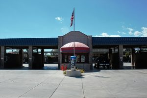 Jon Johnson Photo/Gila Valley Central: Shining Times Car Wash is open for business while it repairs the damage.
