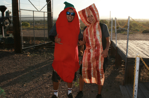 Brooke Curley Photo/ Gila Valley Central.net: John-Michael Martinez as the Chile Pepper and Tanner Kouts as the Bacon