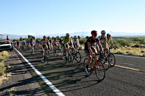 Brooke Curley Photo/ Gila Valley Central: From the starting line, bicyclists from all over the state of Arizona begin the 20 mile climb.