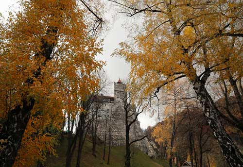 A view of Bran Castle in Bran, Romania