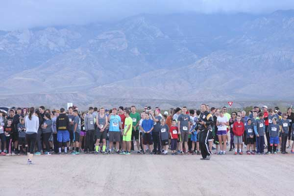 Contributed Photo/Courtesy Jace Nelson: Time to line up for the 11th annual Pima Turkey Trot.