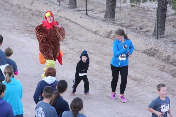 Contributed Photo/Courtesy Jace Nelson: The Pima Turkey Trot's mascot, Stephanie Hoopes, will be running in full costume.