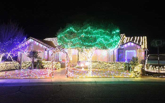 Brooke Curley Photo/Gila Valley Central: Local decorators put on quite a show this Christmas season and lit up the light with their imaginative Christmas ...