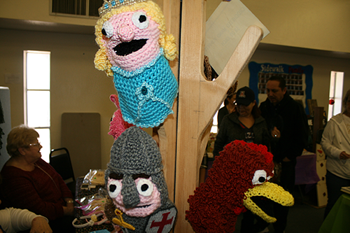 Brooke Curley Photo/ Gila Valley Central: These handmade puppets came in a large enough variety that any young theater enthusiast could put on quite the puppet show.