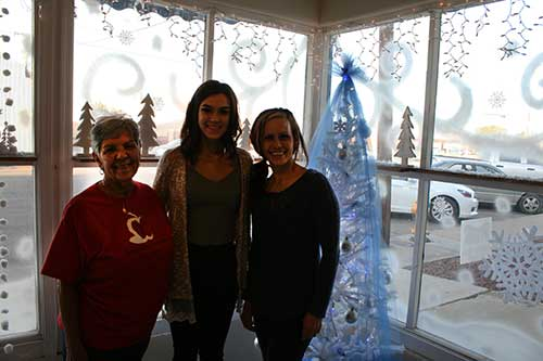 Brooke Curley Photo/ Gila Valley Central: From Left: Terry Lujan, Aalyssa Desaulniers, and Loretta Desaulniers.