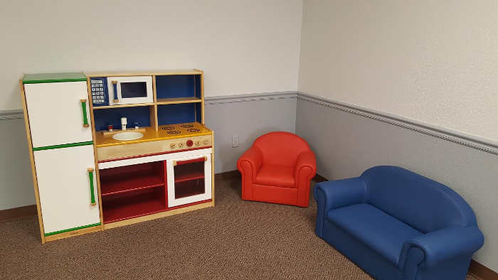 Contributed photo courtesy of Lesley Talley: This is one of the completed corners of the Early Literacy Room.