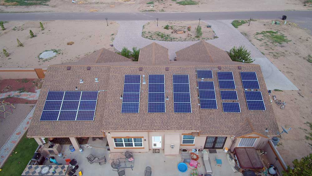 Jon Johnson Photo/Gila Valley Central: Rooftop solar installations have increased in Graham County.