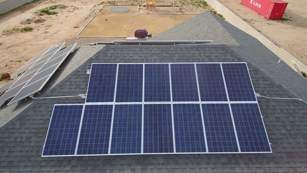 Jon Johnson Photo/Gila Valley Central: The McBiles family hasn't had an electric usage bill since the installation of their solar system.