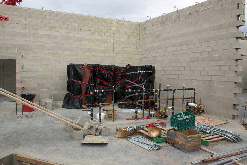Jon Johnson Photo/Gila Valley Central: Sheriff's Office and jail staff will have their own locker rooms with showers as well as other amenities.