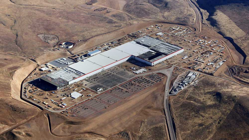 Contributed Photo/Courtesy Tesla: Tesla's Gigafactory in Nevada began churning out batteries in January.