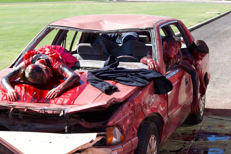 Substance Abuse Coalition holds mock DUI crash at EAC | GilaValleyCentral.Net