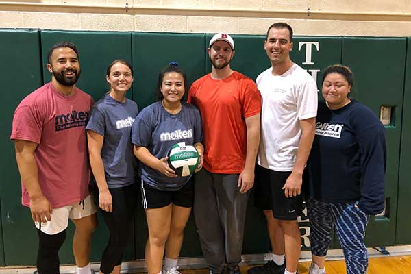Champions of the  Co-ed Volleyball